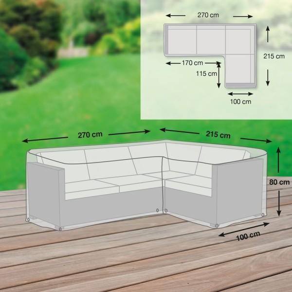 Loungegruppen L-Form asymmetrisch